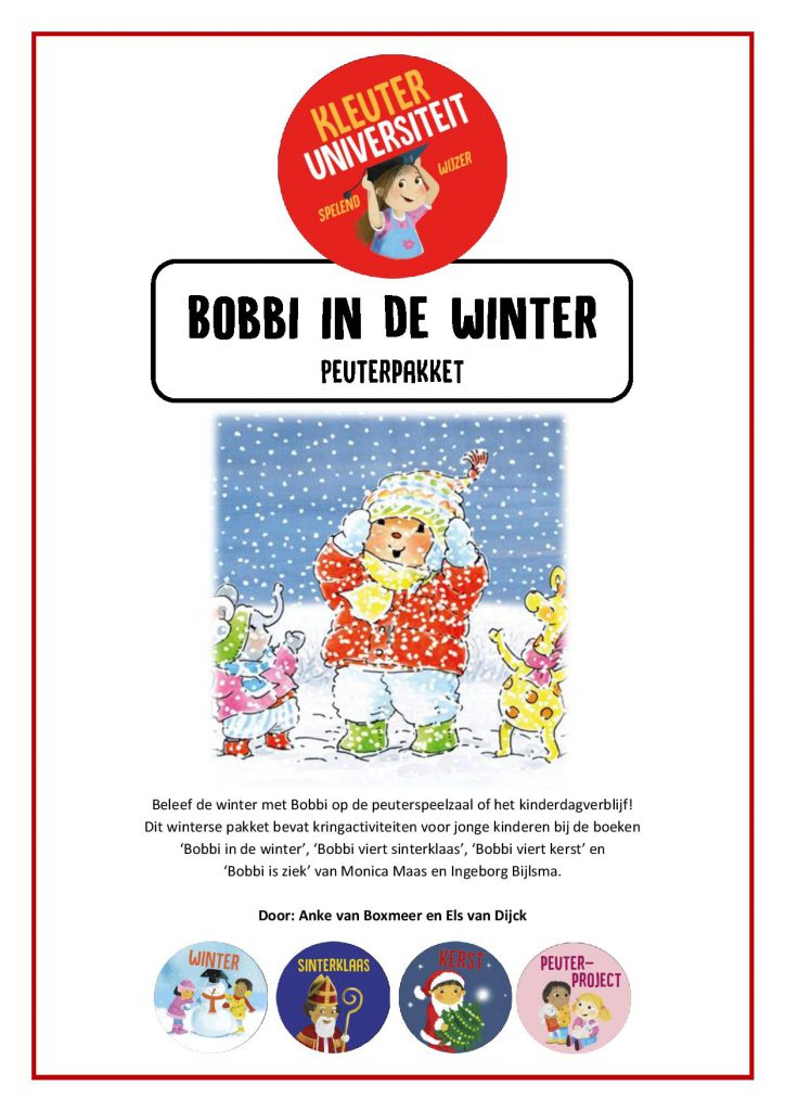 Bobbi in de winter lessen peuters