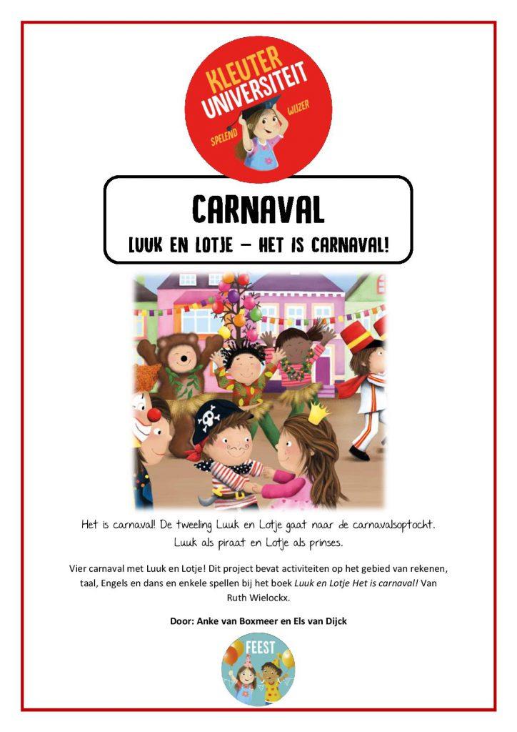 Thema Carnaval Juf Anke Lesidee Kleuters