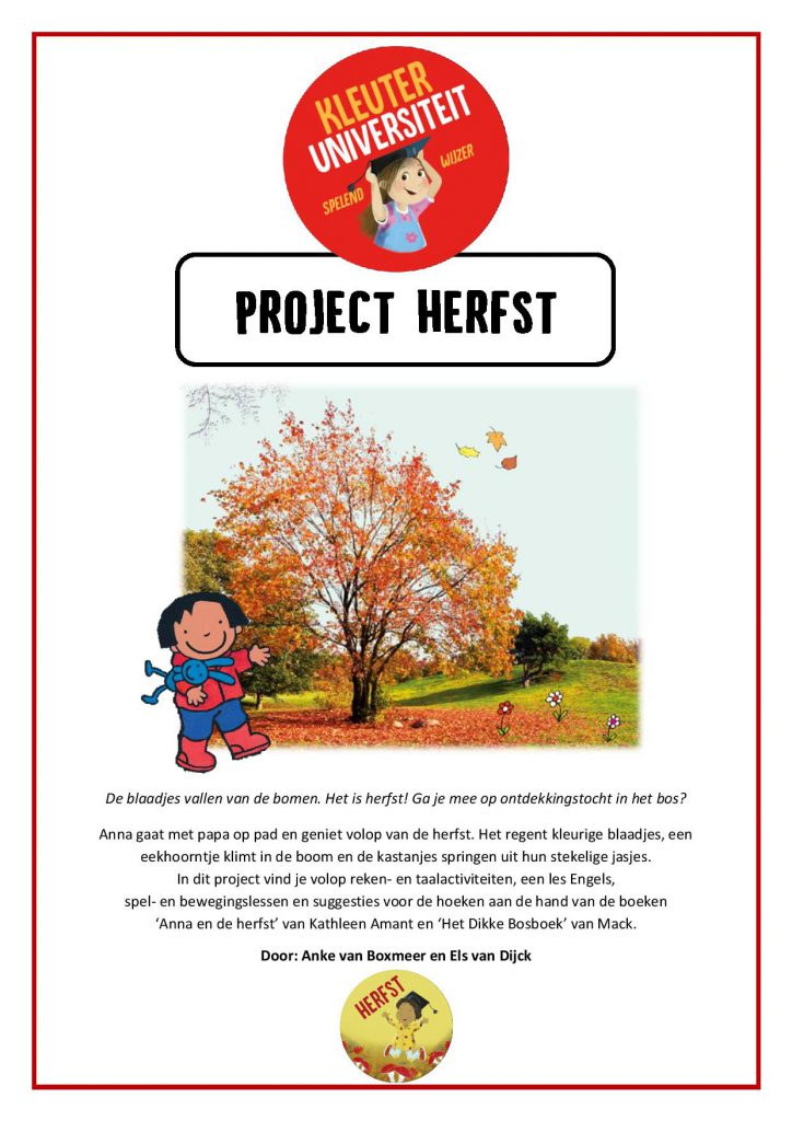 thema herfst kleuters project