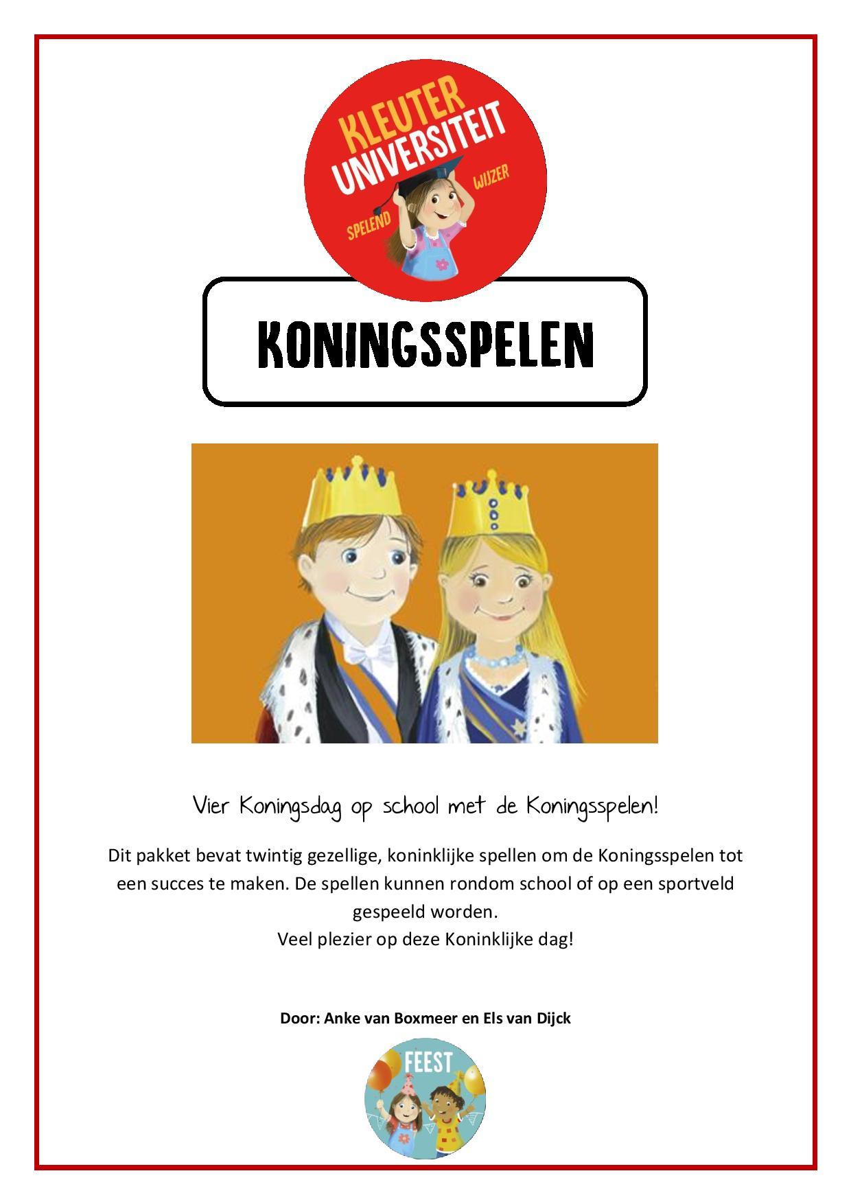 Voorkeur Koningsspelen - ideeën | Koningsdag | Prinsen en Prinsessen &GA07