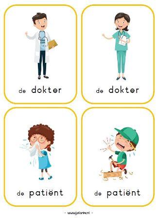 Kleurplaten Dokter Peuters.Thema Ziek Zijn Juf Anke Lesidee Kleuters